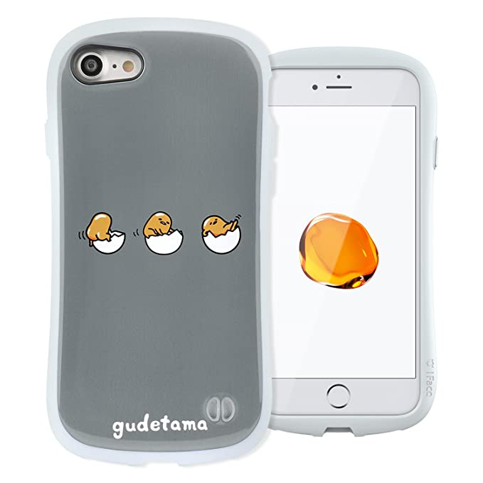 wholesale dealer 01353 c0700 iFace X Sanrio (Gudetama) Case for iPhone 7 & 8 - Tough Hard Cover with  Anti-Slip Grip Edge and Embedded Metal Plate