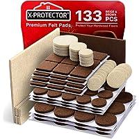 X-PROTECTOR Premium Twee Kleuren Pack Meubelpads 133 Stuk! Vilt Pads Meubelvoeten Bruin 106 + Beige 27 Verschillende…