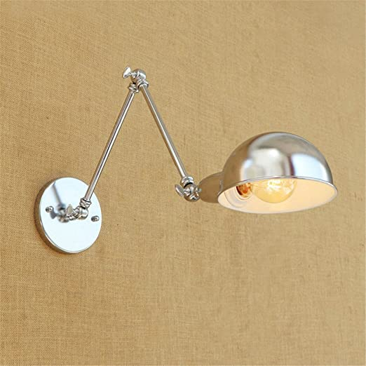 BOOTU lámpara LED y luces de pared Ex jefe de almacén de pasillo balcón de vidrio de doble sección RH color cromo plateado embellecedor apliques de brazo ...
