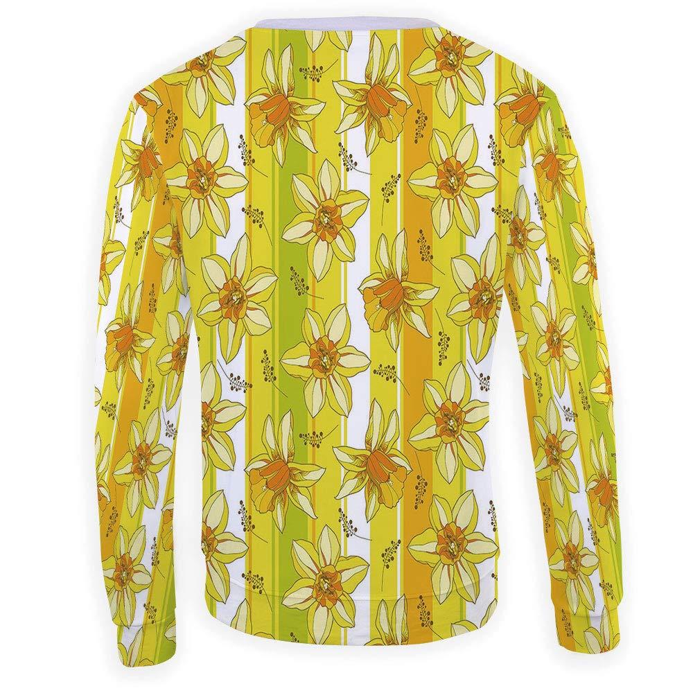 Unisex Yellow Chevron Sweatshirts Crewneck