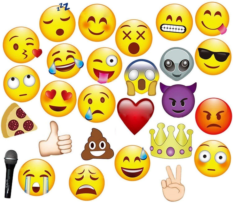 JZK 27 x Emoticon Emoji photo booth props accesorios photocall foto prop para ni/ños adultos accesorios de fiesta para boda cumplea/ños Baby Shower Navidad graduaci/ón