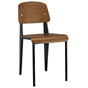 lexmod jean prouve style standard chair walnut amazon co uk