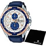 【セット】[カシオ] CASIO 腕時計 EDIFICE エディフィス 100m防水 クロノグラフ EFR539L-7CVUDF メンズ &ROOSTER マイクロファイバークロス 15×15cm付き [並行輸入品]