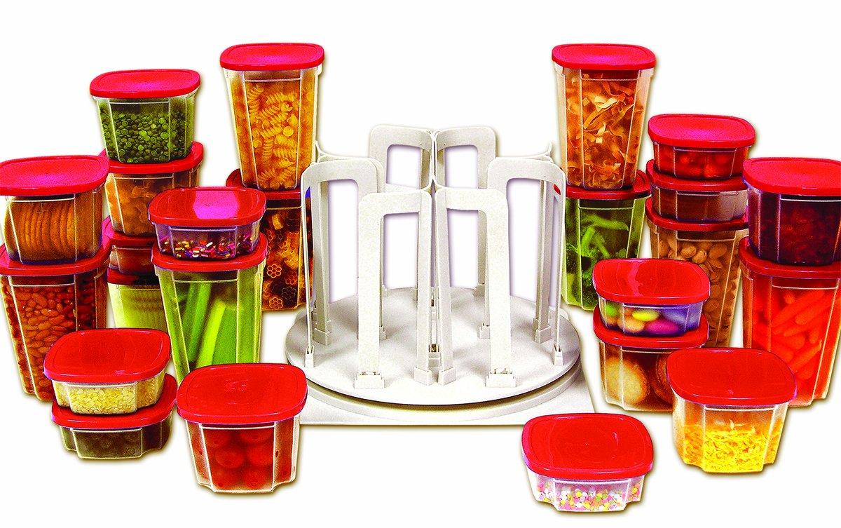 Amazon.com: Handy Gourmet Swirl Around Organizer: Kitchen Storage And  Organization Product Sets: Kitchen U0026 Dining