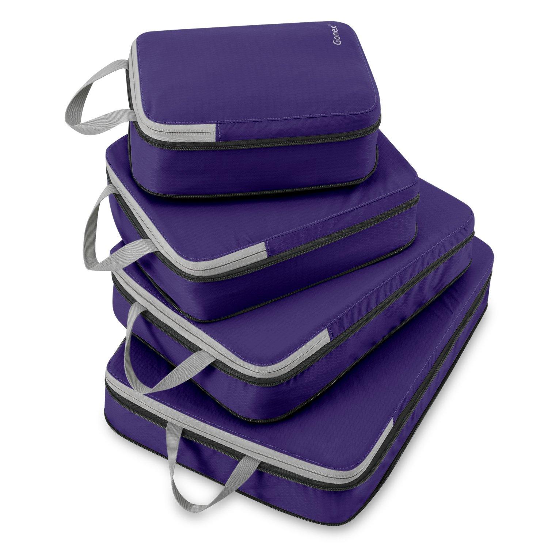 6pcs emballage cubes organisateurs de bagage sacs. Black Bedroom Furniture Sets. Home Design Ideas