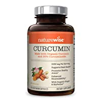 NatureWise Curcumin Turmeric 2250mg | 95% Curcuminoids & BioPerine Black Pepper...