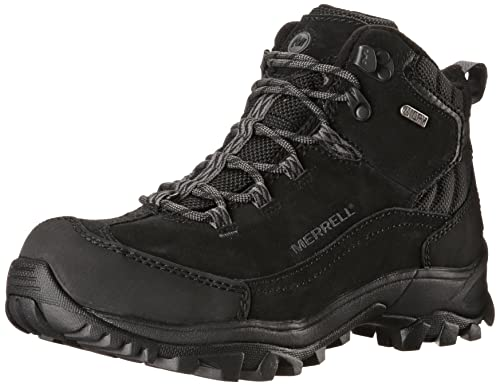 Merrell Norsehund Omega Mid Waterproof, Men High Rise Hiking Shoes, Black  (Black)
