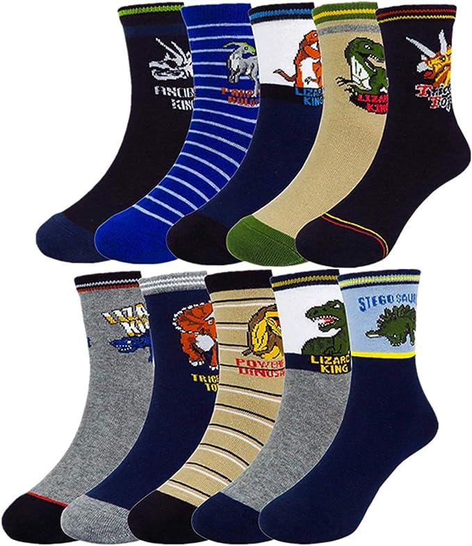 Mens Athletic Cushion Crew Sock Blue Dinosaur Dinosaur Animal5 Long Sock Funny