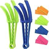 RUIMAICAN Window Blind Cleaner Duster Brush Kit 2 Pack Brush with 6 Microfiber Sleeves - Blind Cleaner Tools for Window Blind