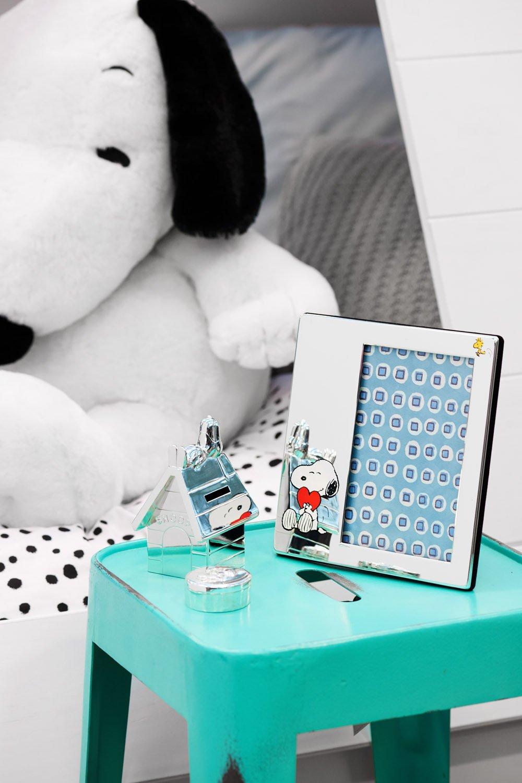 /Salvadanaio Snoopy 14/x 10/x 12,5/cm placcatura in Argento Anti-ossidazione Unbekannt Zilverstad 6871261/