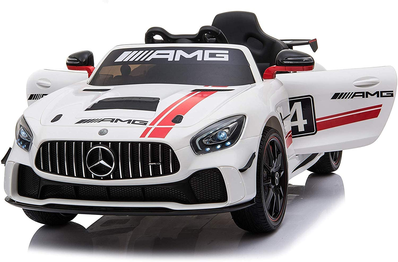 toyzz Kids Licensed Mercedes Benz Ride on Car 12V Battery Remote AMG GT4 Motorbike