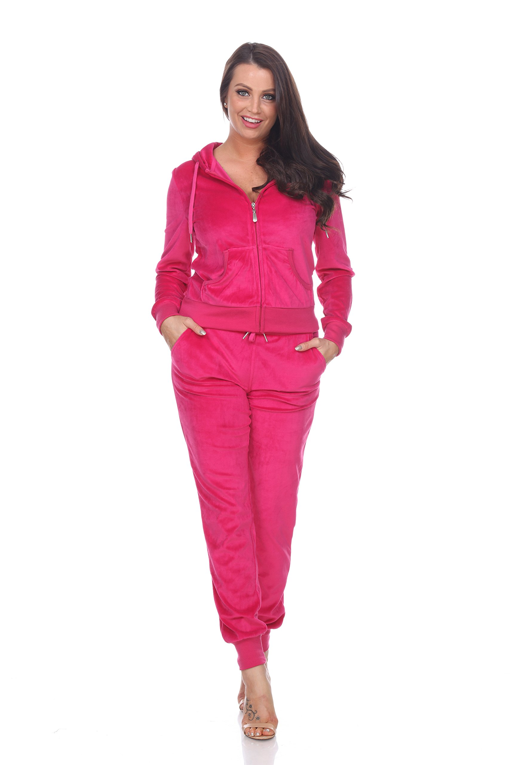 Mili Fitted Velour 2 Piece Tracksuit With Jogger Style Pants & Hoodie Jacket