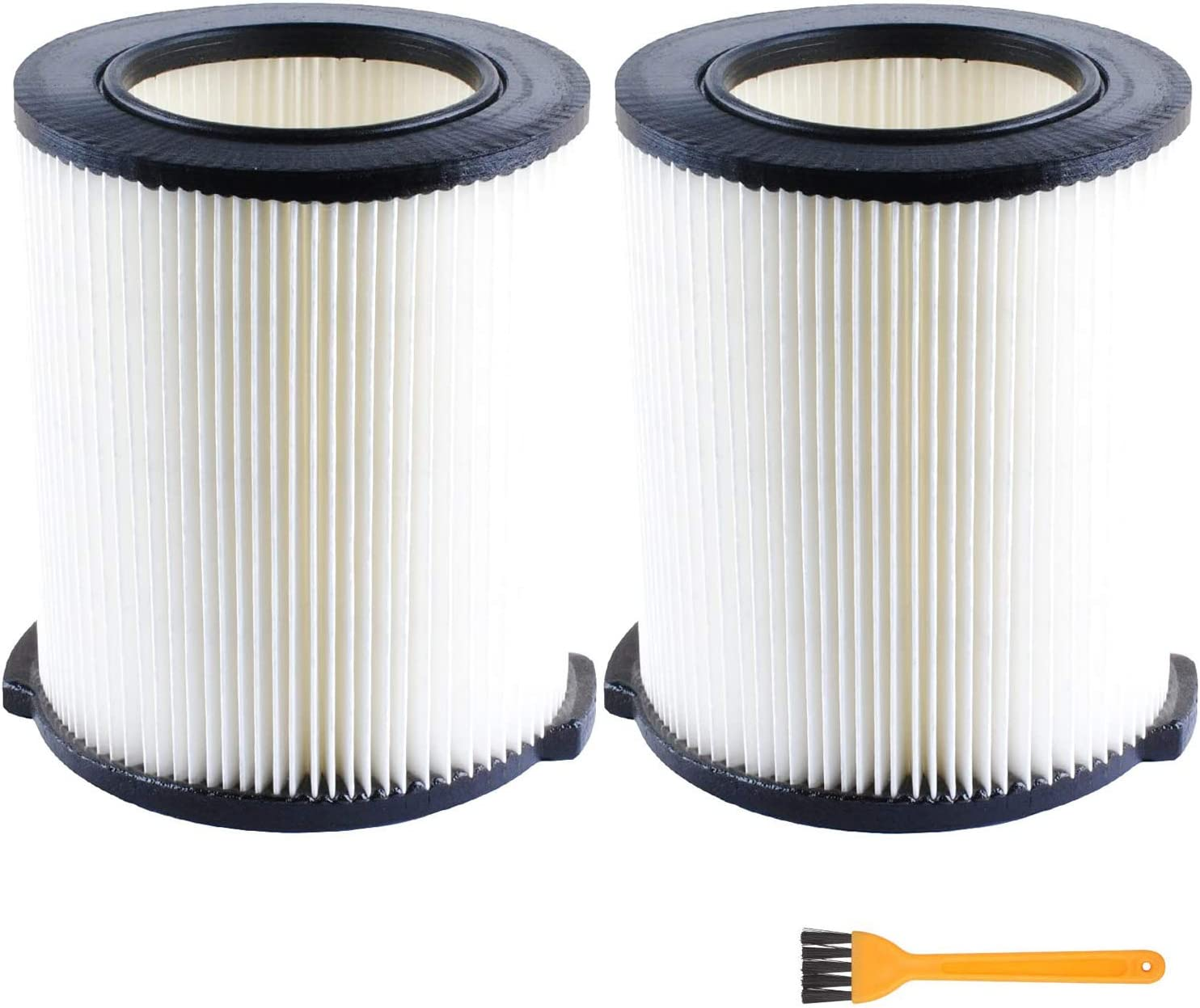 VF4000 Replacement Filter for Ridgid 72947 Wet Dry Vac 5 to 20-Gallon 6-9 Gal Husky Craftsman 17816 Vacuum Compatible WD5500 WD0671 RV2400A RV2600B Washable (2 Pcs)