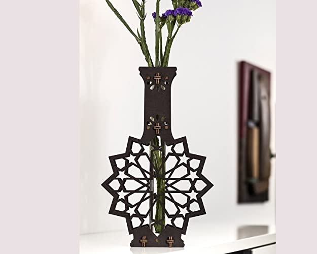 Amazon Bud Vase Wooden Rustic Table Centerpiece Handmade Test