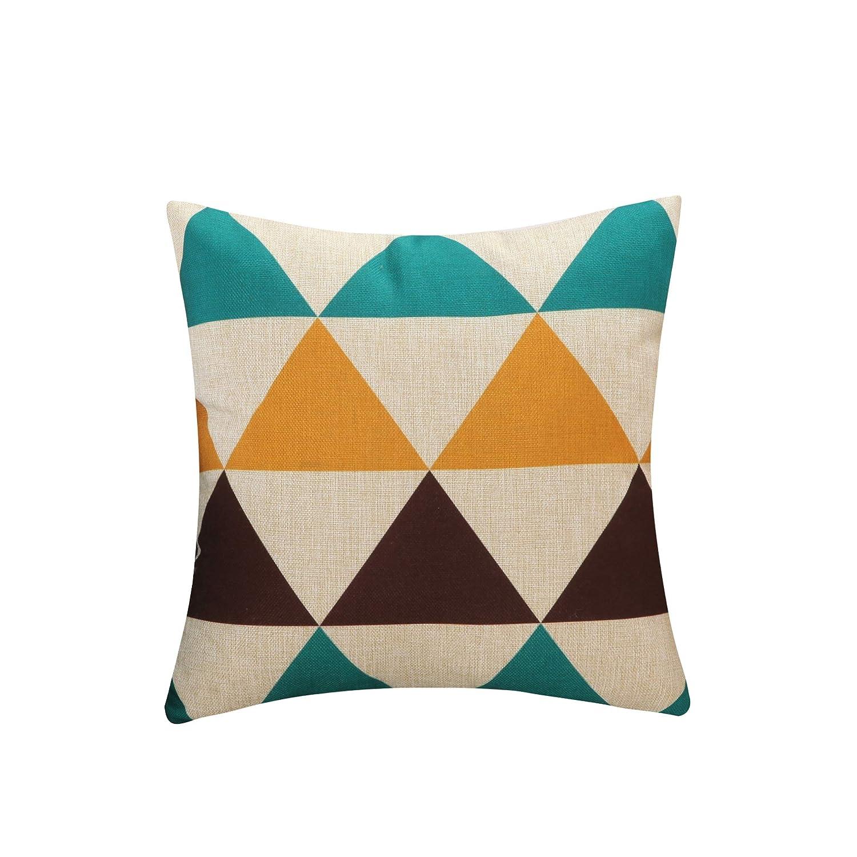 ChezMax Linen Cushion Geometric Arrow Pattern Square Decorative Pillow Throw Pillow 18 X 18