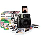Fujifilm Instax Mini 8 Instant Camera Gift Bundle with 40 Shots - Black (discontinued by manufacturer)