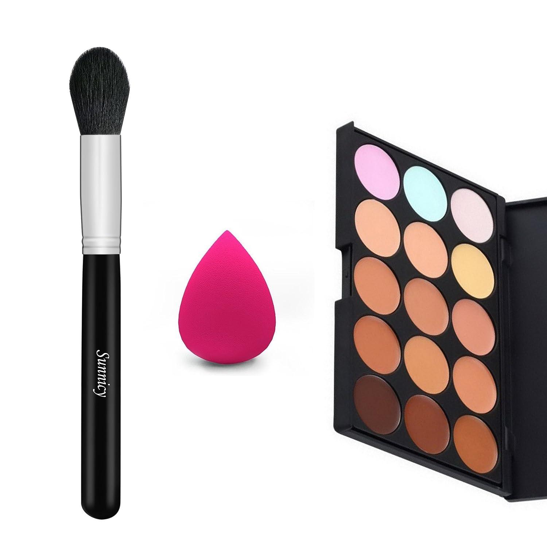 palette maquillage correcteur crème de camouflage 15 couleurs cosmétique visage Sunnicy