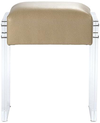 Strange Amazon Com Zentique Acrylic Vanity Stool Kitchen Dining Pabps2019 Chair Design Images Pabps2019Com