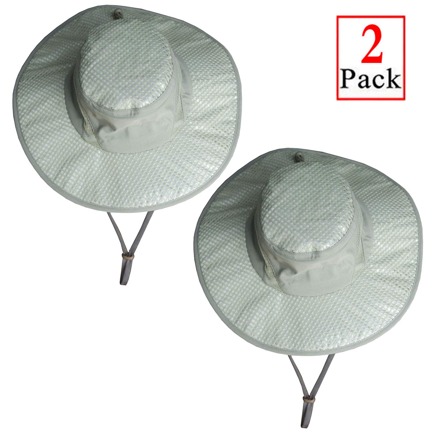 e444969cc Amazon.com : Iceyyyy 2 Pack Arctic Evaporative Cooling Hat Sunscreen ...