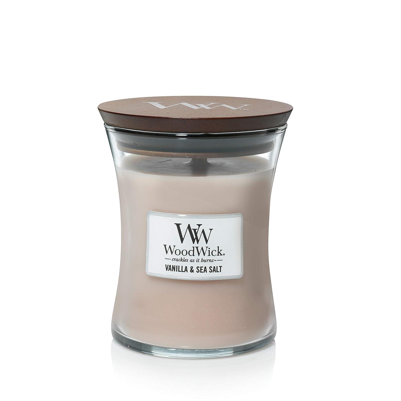 10 oz. WoodWick Vanilla Sea Salt Pluswick Medium Hourglass Candle