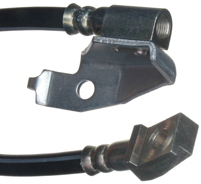 White Hose /& Stainless Green Banjos Pro Braking PBF2348-WHT-GRE Front Braided Brake Line