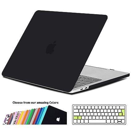 iNeseon Funda MacBook Pro 15 2018/2017/2016, Carcasa Case Duro y Cubierta del Teclado Transparente EU Layout para MacBook Pro 15 Pulgadas con Touch ...