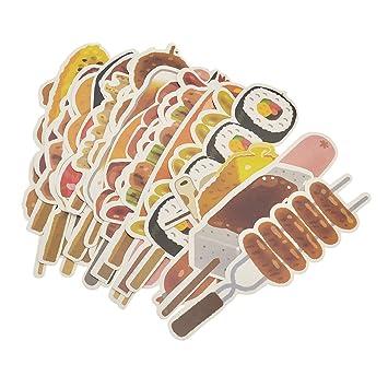 Creative papel Marcadores Set de dibujos animados Alimentos barbacoa viaje papelería regalo 30pcs