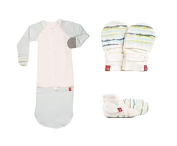 wholesale dealer 1013f 3af55 Newborn Baby Mittens, Booties & Sleep Sack Pajamas Bundle, Organic, Soft &  Adjustable (Geo Wave...
