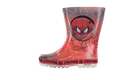 5a57acfa927 Spiderman Boys Red Wellies Welly Rubber Boots Boys Kids Children Various  Sizes