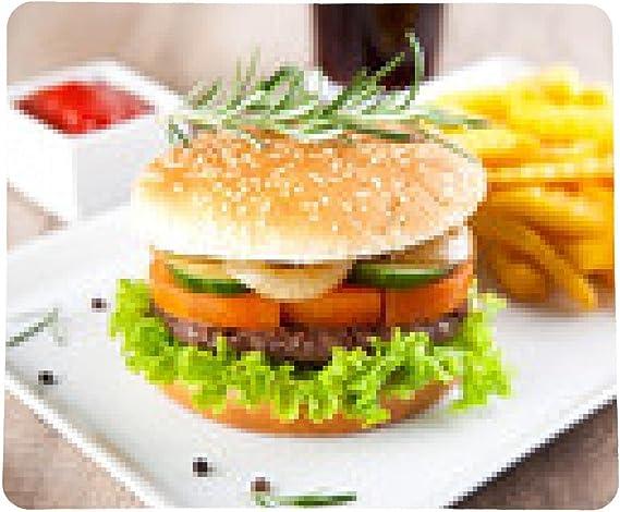 alfombrilla de ratón Hamburguesa con papas fritas y salsa de ...
