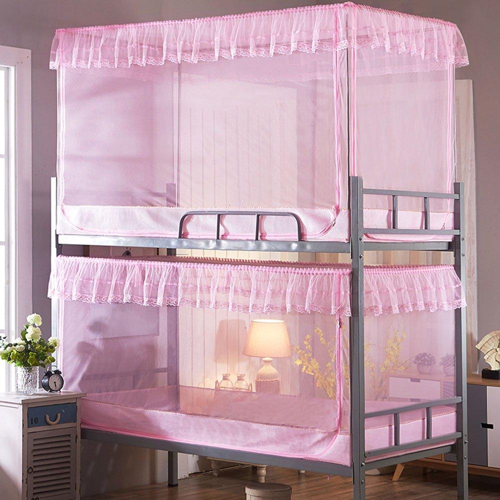 QFFL wenzhang Anti-Moskito-Moskitonetze im Sommer hohe und niedrige Bett-Moskito-Netze All-Inclusive Einzelbett Moskitonetze 120  190  90CM