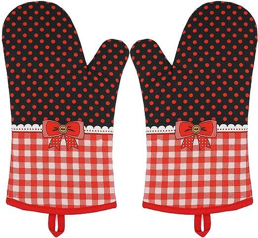 1 Pair Oven Gloves Kitchen Cooking Pot Holder Thick Heat Resistant Mitt Mittens