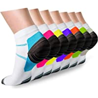 Compression Socks Plantar Fasciitis for Women Men - 8-15 mmHg Best for Athletic,Support,Flight Travel,Nurses,Hiking