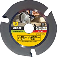 GRAFF SPEEDCUTTER 4 1/2 Wood Carving Disc for Angle Grinder - Circular Saw Blade for Cutting, Sculpting & Shaping - 7/8…