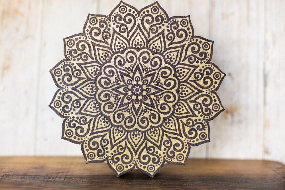 Amazon Com Wooden Mandala Wall Decor For Yoga Or Meditation