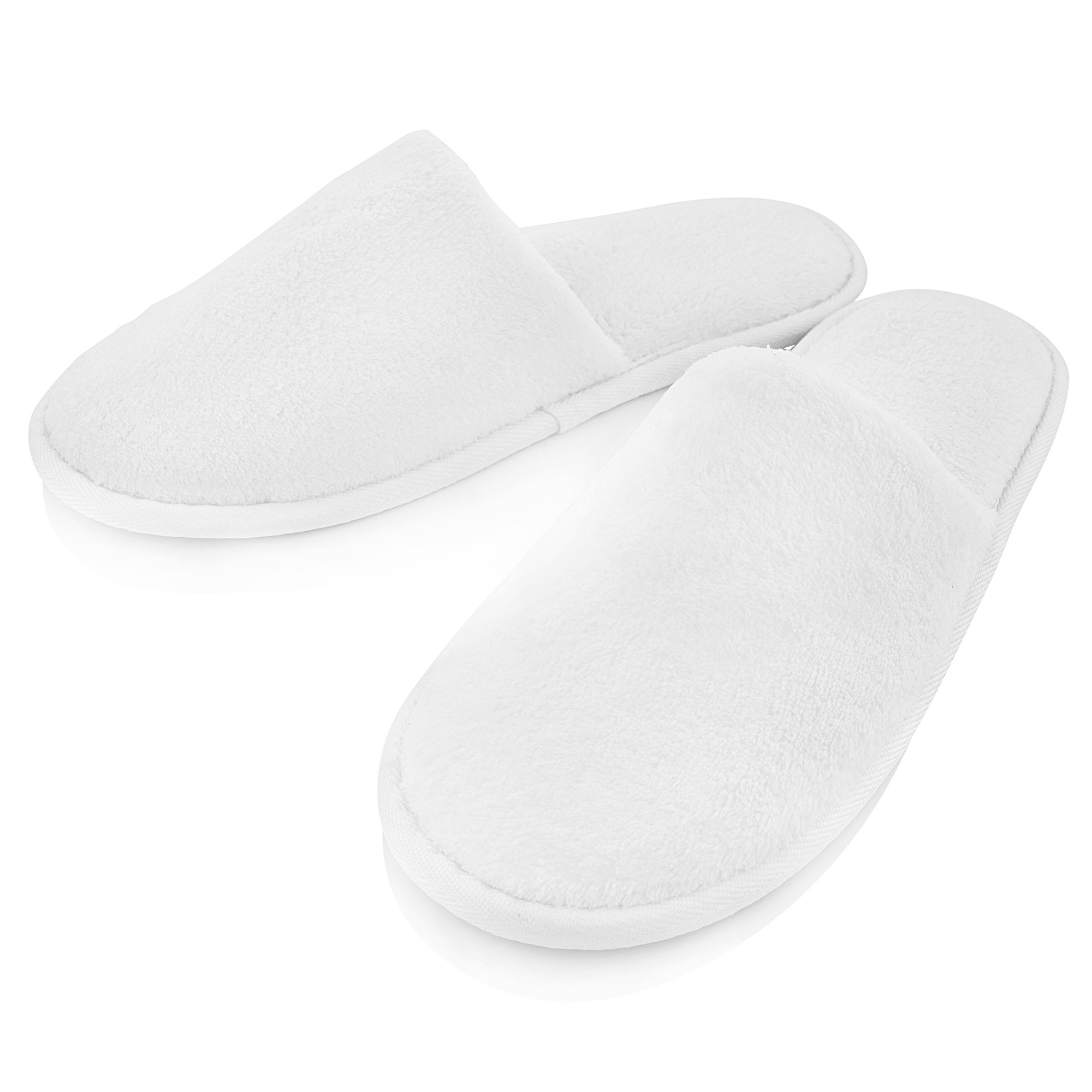 THE RESORT BOUTIQUE White House Slippers (12-Pack) Men and Women | Luxury, Spa-Quality House Shoes | Home, Travel, Gym | Non-Slip Sole, Soft Cushioned Padding | Small & Large Set by THE RESORT BOUTIQUE (Image #2)