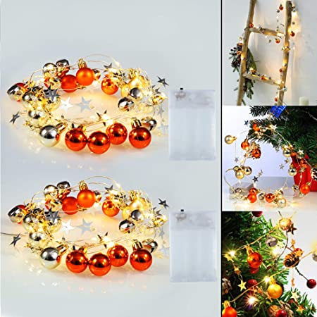 20 Multi LED Fairy Lights Garland Battery Operated String Lights Indoor Outdoor