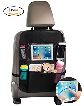 Car Back Seat Organiser Organizer Protector With Toy Bottles Tissue Box