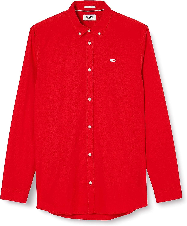 Tommy Hilfiger TJM Light Twill Shirt Camisa, Rojo (Red Xa9 ...