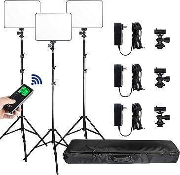 VL-600T 3300K-5600K Bi-Color 18/'/' LED Ring Light Stand w//Carry Bag+Light Stand