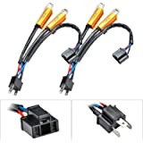 TUINCYN 2pcs 50W 8 ohm H4 Fog Light LED Bulb Load Resistors Connector LED Bulbs Anti- Flaker Headlight Daytime Running…