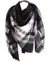 RACHAPE Women Elegant Warm Blanket Scarf Plaid Wrap Shawl Winter