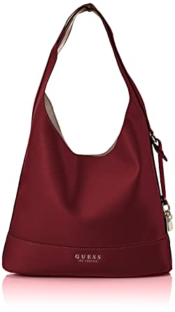 3018cfb2fb Amazon.com: GUESS Heidi Hobo, burgundy: Clothing