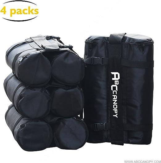 2-Negro Paquete de 4 ABCCANOPY Gazebo Bolsas de Peso para Gazebo Pop Up Bolsas de Arena para instant/áneo al Aire Libre Refugio Solar Gazebo Patas