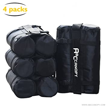 561868753d5a ABCCANOPY Gazebo Weight Bags for Pop Up Gazebo,Sand Bags for Instant  Outdoor Sun Shelter Gazebo Legs,4-pack(black)