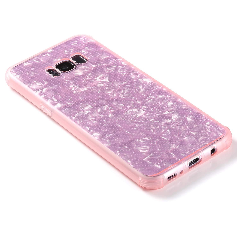 MoreChioce Compatible avec Coque Samsung Galaxy S8 Full Cover,360 Degres Blanc Complet Marbre Transparent Silicone Bumper Anti-Rayures Dur Protection Case Rigid Cover Souple Gel TPU /Étui