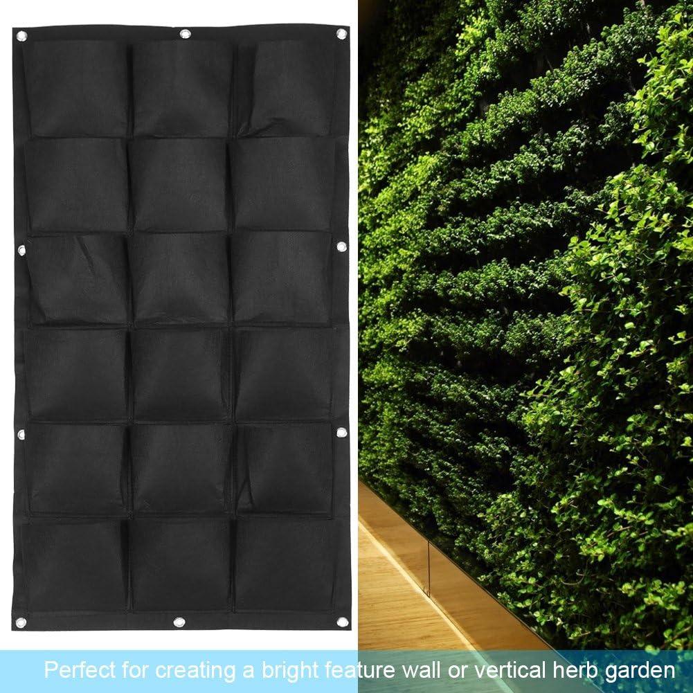 Multi Pocket Wall Hanging Felt Planter Grow Bags for Home Garden Balcony Indoor Outdoor 12 Pockets Zerodis Vertical Garden Planter