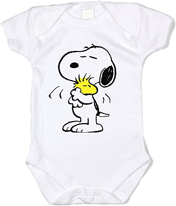 Mabell Unisex Baby Snoopy /& Woodstock Short Sleeve Bodysuit