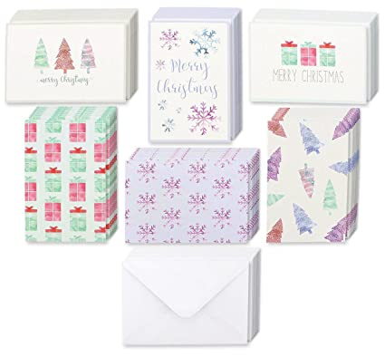 Amazon winter holiday greeting cards 6 assorted christmas winter holiday greeting cards 6 assorted christmas greetings with christmas trees snowflakes gift m4hsunfo