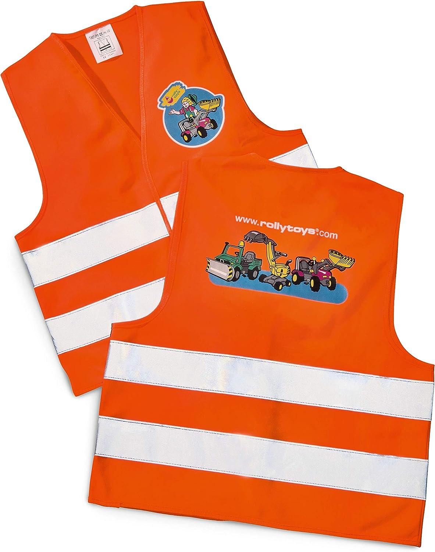 Chaleco Reflectante NUOLUX Chaleco de Seguridad para Ni/ños para Correr Trotar Andar en Bicicleta Caminar Deportes en Exterior Naranja